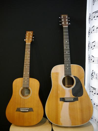 ミニサイズのギター